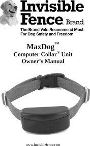 3001055 Max Dog Computer Collar User Manual Radio Systems