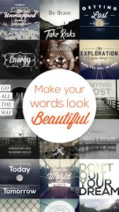 quotergram typography quotes on pictures text photo editor for
