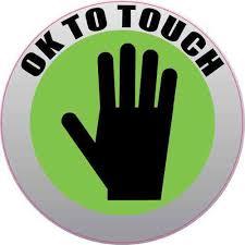 3in X 3in Ok To Touch Sticker Vinyl Business Sign Decal Circular Stickers Stickertalk