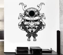 Amazon Com Wall Stickers Vinyl Decal Samurai Warrior Mask Japan Japanese Decor Z2195i Home Kitchen