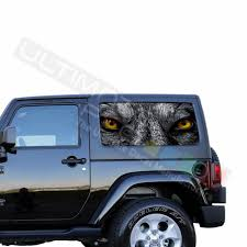 Rear Window Perforated Decal Jeep Wrangler Decal 2007 Present