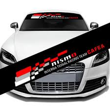 2020 Nismo Nismo Front Rear Windshield Banner Decal Vinyl Car Sticker Auto Window Exterior Stickers Decoration Diy Emblem Car Styling Model03 From Mingyamaoyi2020 11 05 Dhgate Com