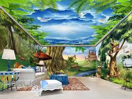 3d Fantacy Treehouse Castle Wall Murals Wallpaper Paper Art Print Deco Idecoroom