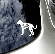Great Dane Decal Dog Lover Car Sticker Car Accessory Great Dane Mom Dog Sticker Dog Lover Gift Great Dane Colors Dog Decals Dog Lovers