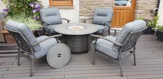 alabama round gas fire pit lounge set