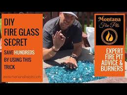 fire glass the lava rock trick