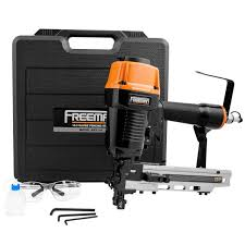 Freeman Pneumatic 10 5 Gauge 1 9 16 In Fencing Stapler With Case Pfs105 The Home Depot