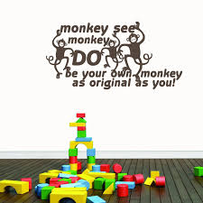 Monkey See Monkey Do Wall Decals Home Decor Wall Decals