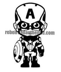 White Captain America Boy 3 Vinyl Decal Rebel Rd Auth