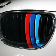 New M Color Car Grill Sticker M Strip Sticker Vinyl Badge Decal For Bmw High Quality Decorate Car Grille Reflective Colours 8z Car Stickers Aliexpress