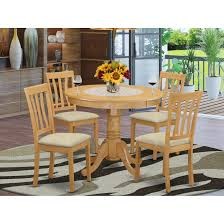 Shop Oak Small Kitchen Table And 4 Chairs Dining Set Overstock 10201204