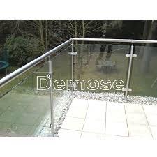 balcony deck glass railing cost