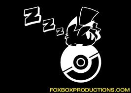 Sleepy Pikachu Pokeball Pokemon Vinyl Decal For Mac Azvinylworks