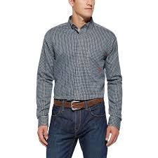 ariat fr blue plaid western work shirt