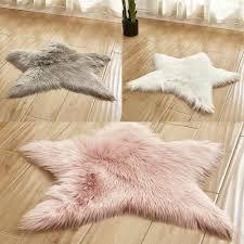 Vova Star Rug Plush Children Kids Non Slip Bedroom Floor Mat Baby Room Nursery Carpet