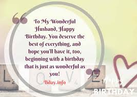 happy birthday wishes quotes for husband info