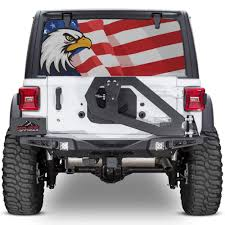 Jeep Wrangler American Flag Rear Window Wrap Decal Xplore Offroad Xplore Offroad Stand Out From The Crowd Jeeps Trucks Suvs 4x4s