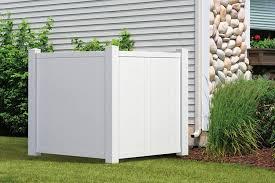 Outdoor Essentials White Vinyl Privacy Corner Accent Fence Amazon In Garden Outdoors