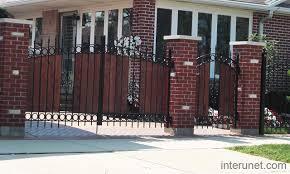 Brick Steel Wood Fence Gates Picture Interunet