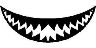 Shark Teeth Decal Sticker 15