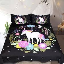 Bedding Outlet Unicorn Bedding Sets Duvet Cover Bed Set Floral Home Te Lusy Store