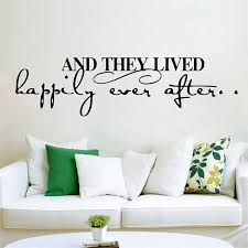 And They Lived Happily Ever After Inspirational Quotes Wall Stickers Home Decor Living Room Diy Wall Decals Vinyl Mural Art Stickers Home Decor Wall Stickerwall Stickers Home Decor Aliexpress