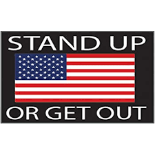 Amazon Com Rogue River Tactical American Flag Stand Up Or Get Out Usa Patriotic Stars And Stripes Auto Bumper Sticker Vinyl Decal For Car Truck Rv Suv Boat Support Us Military 1 Pack