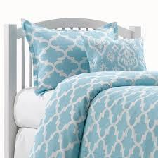 sky blue trellis bedding set twin