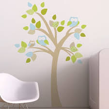 Trendy Peas Tree With Owls Wall Decal Wayfair