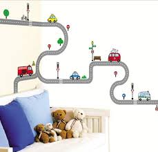 Kids Wall Decal Deco Point Sticker Race Track Wall Decal Etsy