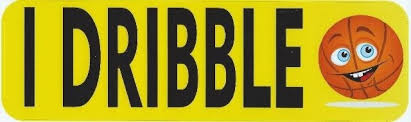 10in X 3in I Dribble Basketball Bumper Sticker Window Decal Stickers Car Decals Stickertalk