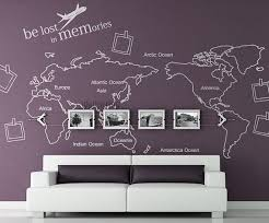 World Map Wall Decal Map Wall Sticker Travel Map By Wallartdiy Map Wall Decal Wall Stickers Travel World Map Wall Decal
