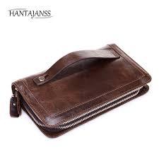 hantajanss men leather wallet genuine