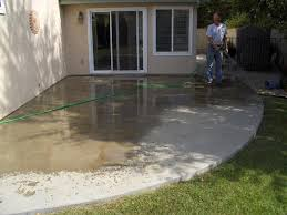 patina stained decorative concrete