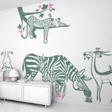 Jungle Wall Stickers Savanna Wall Decor For Nursery Or Kids Room