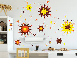 Video Game Explosion Wall Decals Boys Room Decor Vinyl Graphic Wall
