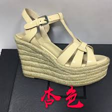 11cm tribute wedge sandals full grain