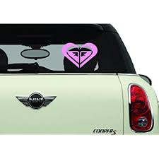 Amazon Com Roxy Heart Red Sk8 Surf Snow Water Bike Brands Automotive Decal Bumper Sticker Automotive