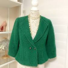 Pre-owned Women's CAbi Ivy Kelly Green Blazer/Jacket, Size 8 | eBay