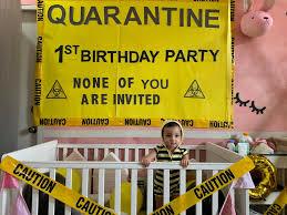 quarantine themed party