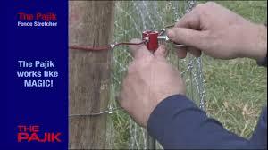 The Pajik Fence Stretcher Youtube