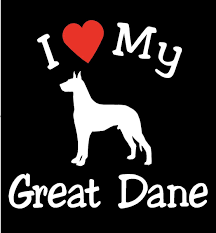 New I Love My Dog Great Dane Pet Car Decals Stickers Gift Appealing Signs