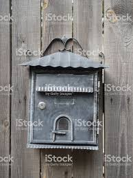 Forged Metal Mailbox On A Wooden Fence Stock Photo Download Image Now Istock