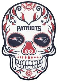 New England Patriots Decal Skull Logo 7x5 Sticker The 4th Quarter