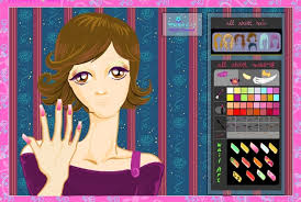 nail salon makeup game play free hand