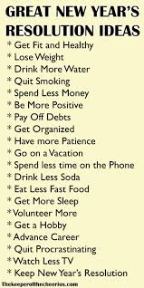new years resolution ideas new years resolution list quotes