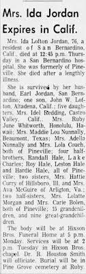 Ida Hale Lofton Jordan Obituary - Newspapers.com