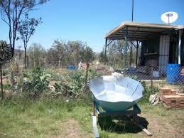 homemade parabolic solar cooker made of