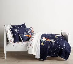 astronaut snoopy kids bedding pottery