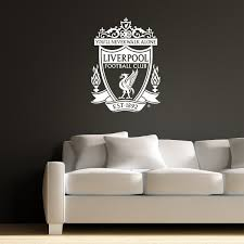 Amazon Com Official Liverpool Football Club One Colour Crest Wall Decal Lfc Wall Sticker Set Print Mural Vinyl White 90cm Height Baby